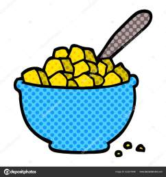 cartoon doodle bowl cereal stock vector [ 1600 x 1700 Pixel ]