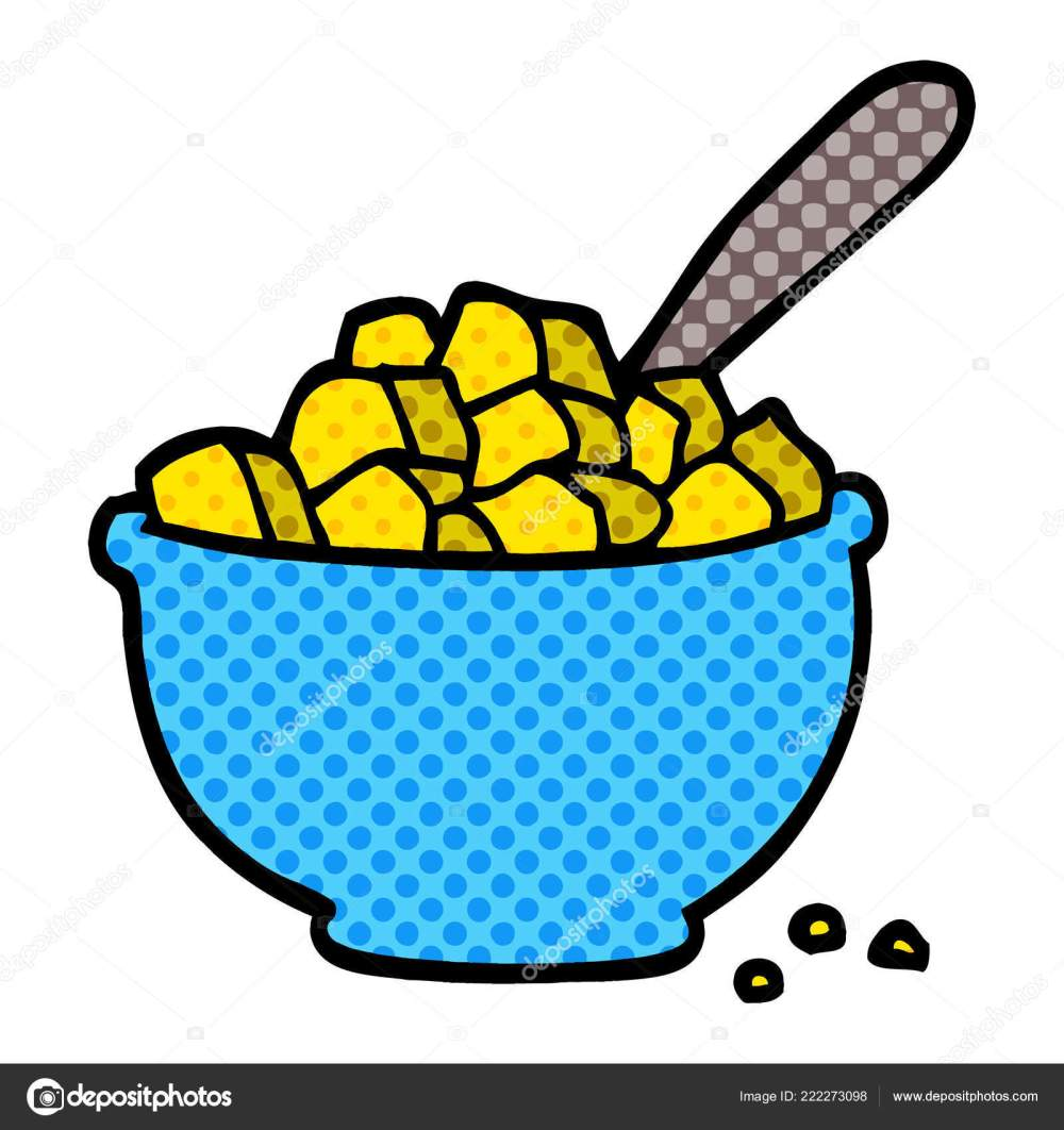 medium resolution of cartoon doodle bowl cereal stock vector