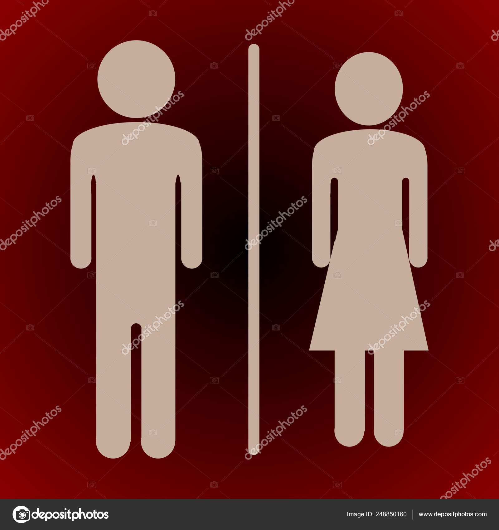Sign For Bathroom Wc Icon Toilet And Restroom Icon Male Female Symbol Bathroom