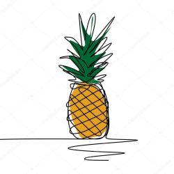 ✅ Pineapple One continuous line art drawing vector illustration minimalist design premium vector in Adobe Illustrator ai ai format Encapsulated PostScript eps eps format