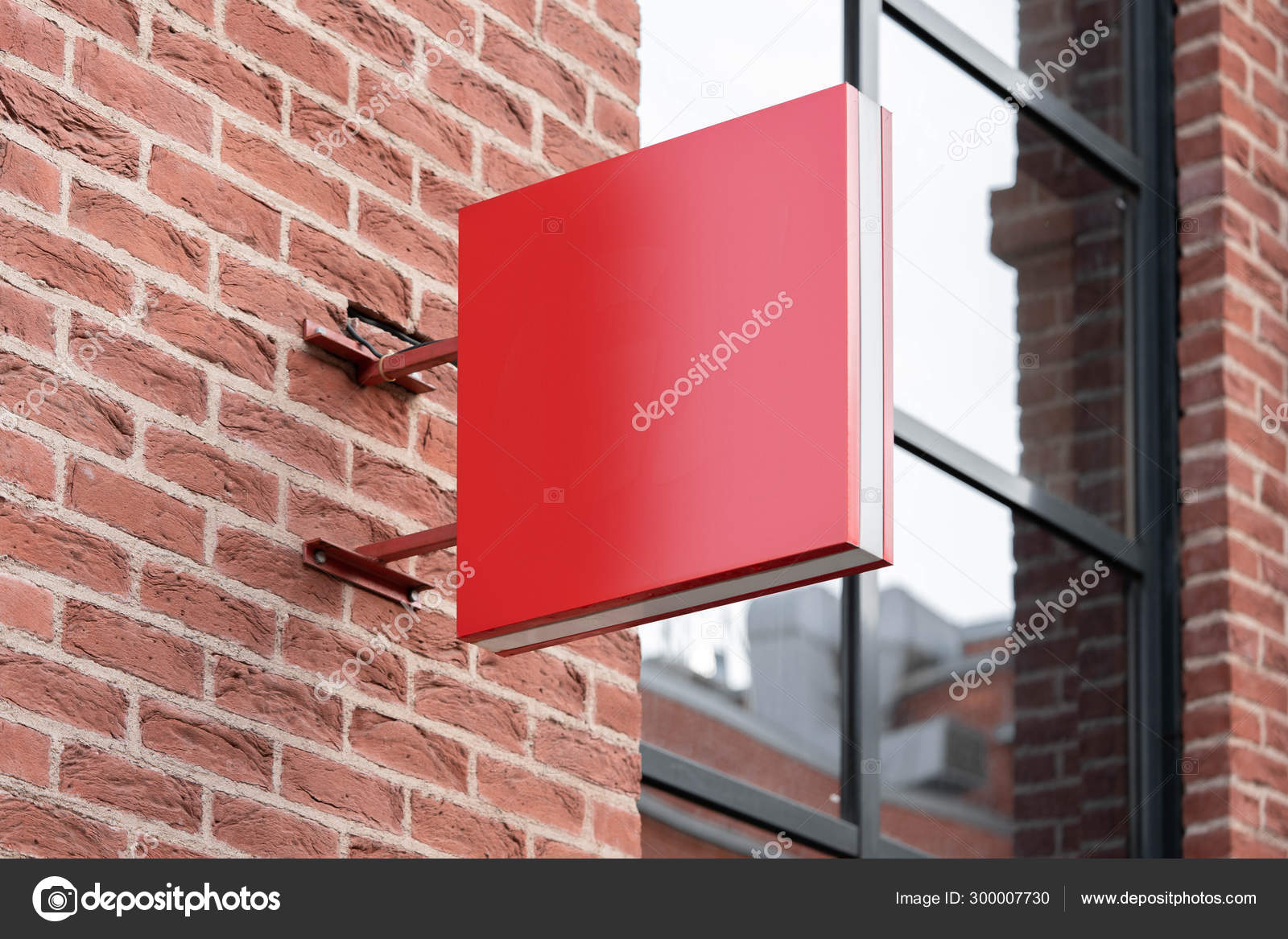 Choose from thousands of free or premium microsoft office templates for every event or occasion. Blank Red Square Store Signboard Mockup Empty Shop Street Sign Signage On The Wall 3d Rendering Stock Photo By C Ekostsov 300007730