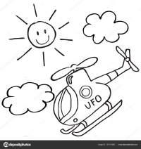 Elicottero Sole Icona Vettore Pagina Colorare Bambini ...