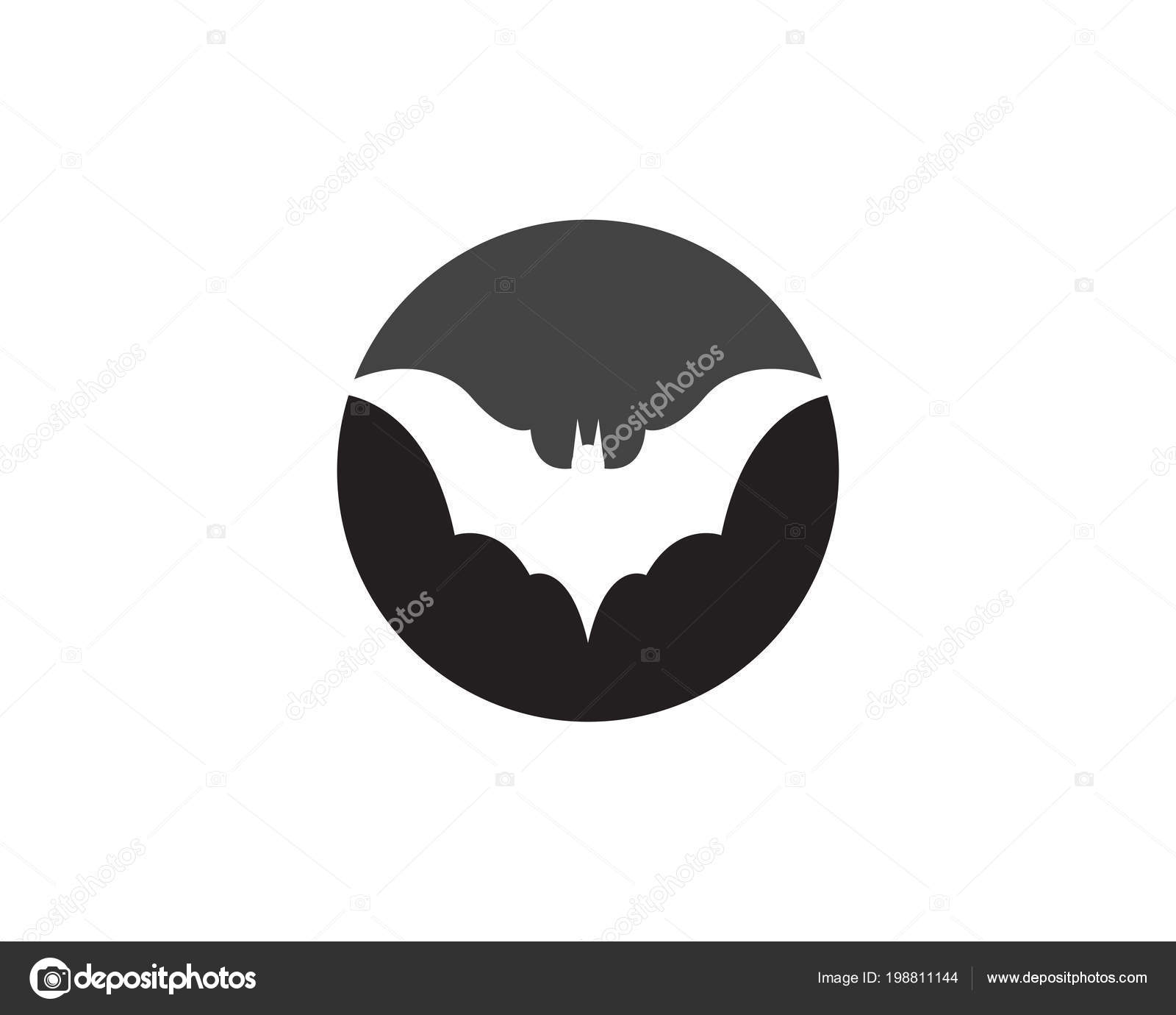 Bat Vector Icon Logo Template Illustration Design — Stock Vector