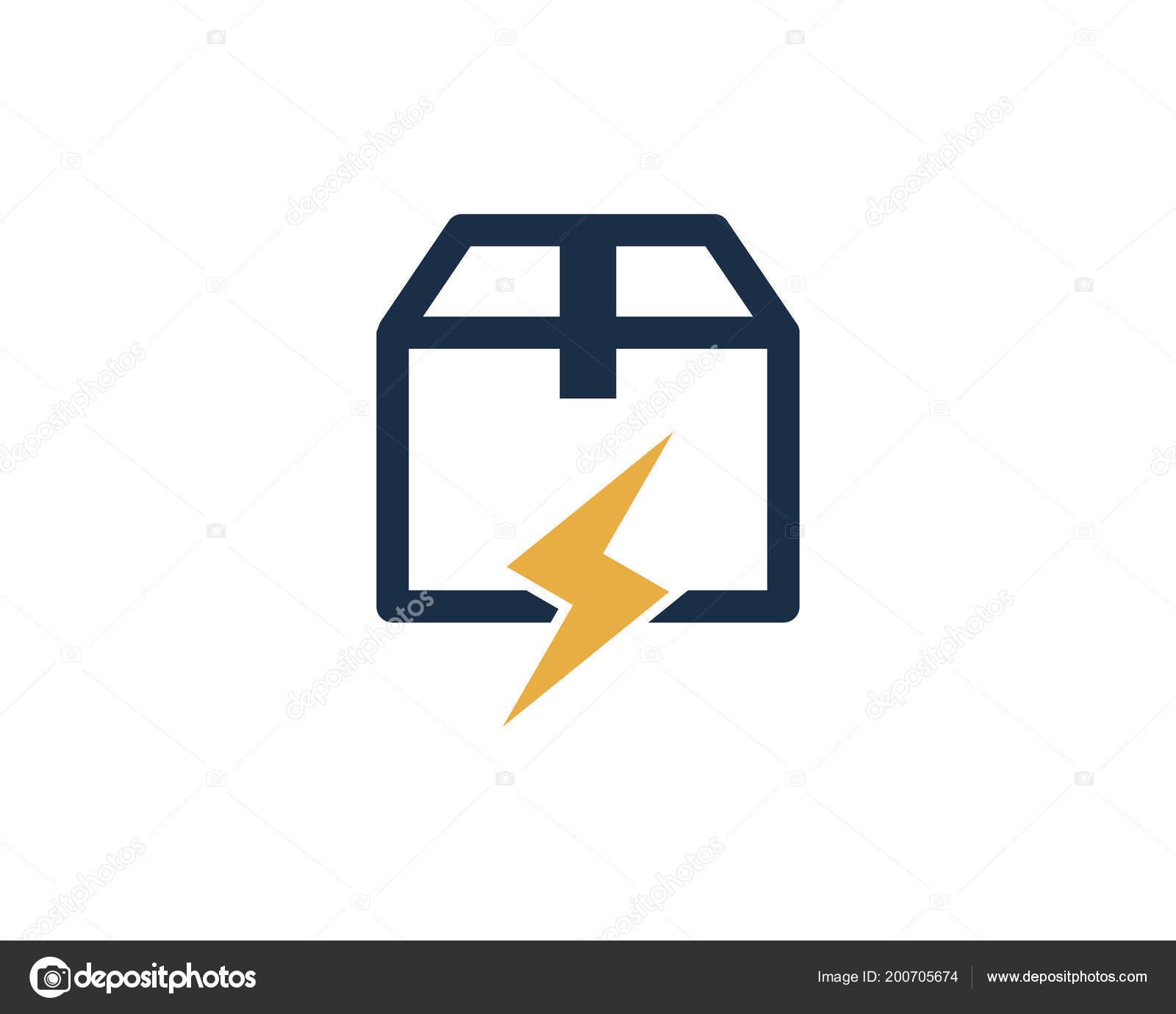 hight resolution of power box logo icon design stock vector