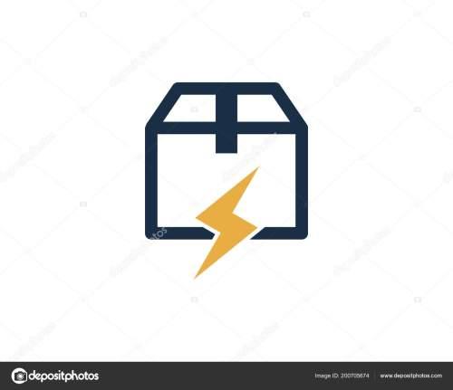 small resolution of power box logo icon design stock vector