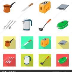 In Stock Kitchens Kitchen Backsplash Tile Ideas 厨房和烹饪标志的矢量设计 库存厨房和家电矢量图标收藏 图库矢量图像