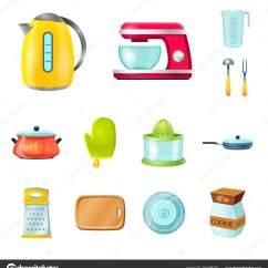 In Stock Kitchens Kitchen Sink Clogged 厨房和厨师标识的孤立对象 库存厨房和家电矢量图标收藏 图库矢量图像