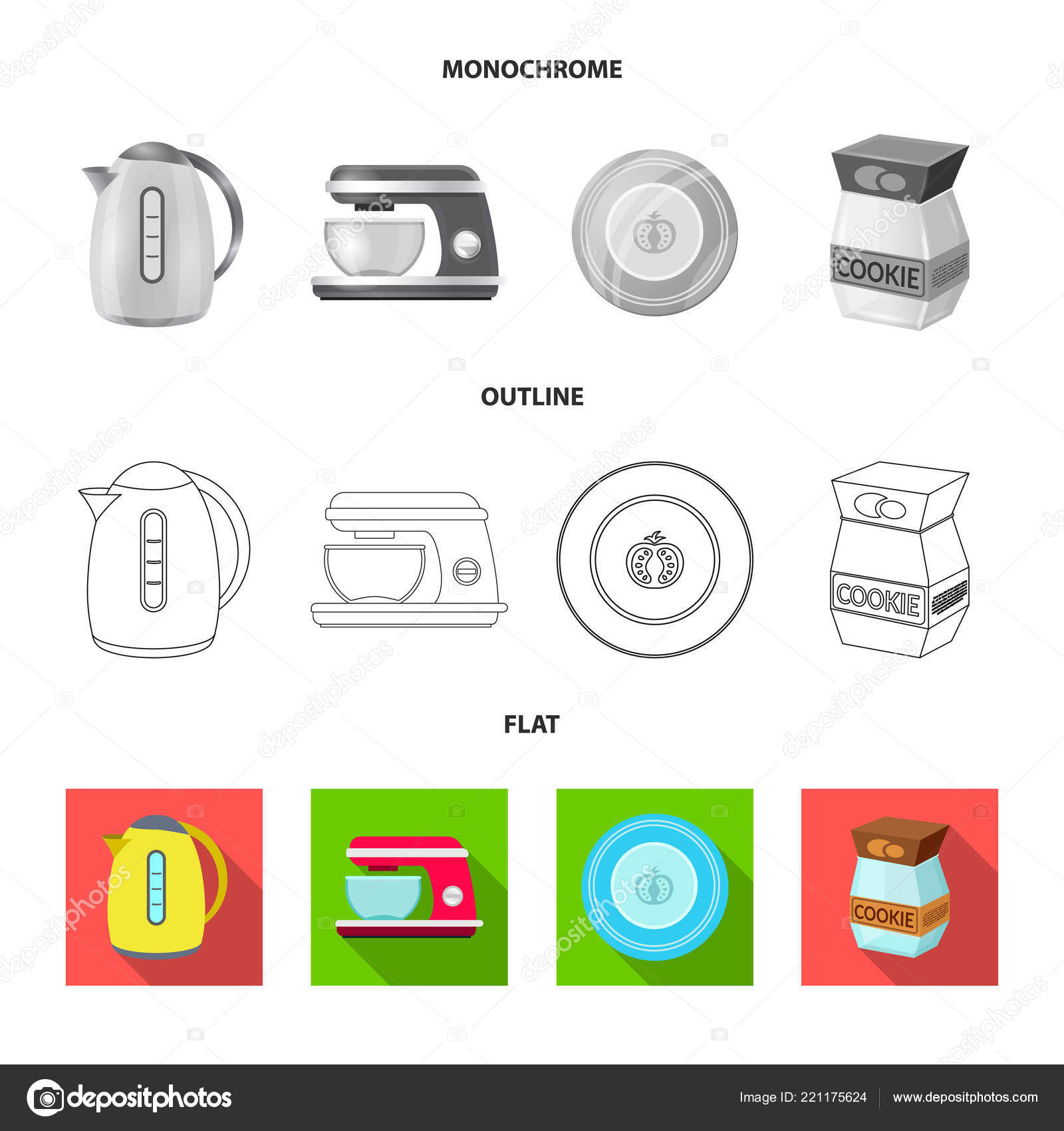 in stock kitchens kitchen cabinets ideas 厨房和烹饪标志的矢量设计 库存厨房和家电矢量图标收藏 图库矢量图像