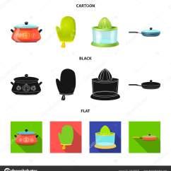 Kitchen Inventory Metal Backsplash 厨房和厨师象征的向量例证 厨房和家电库存矢量图的采集 图库矢量图像