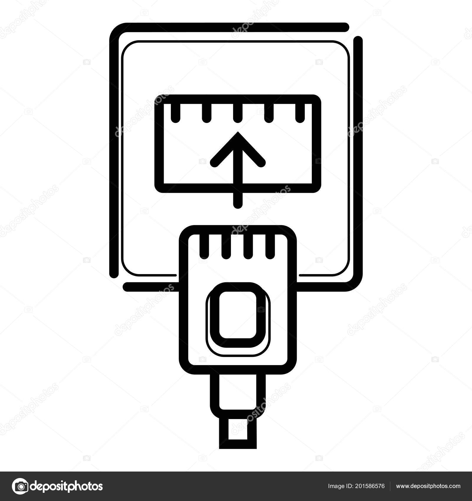 hight resolution of ethernet cable port icon stock vector