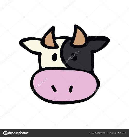 small resolution of cute cow head icon vector illustration farm animal hand drawn for childrens clipart kawaii bovine bull drawing for dairy design