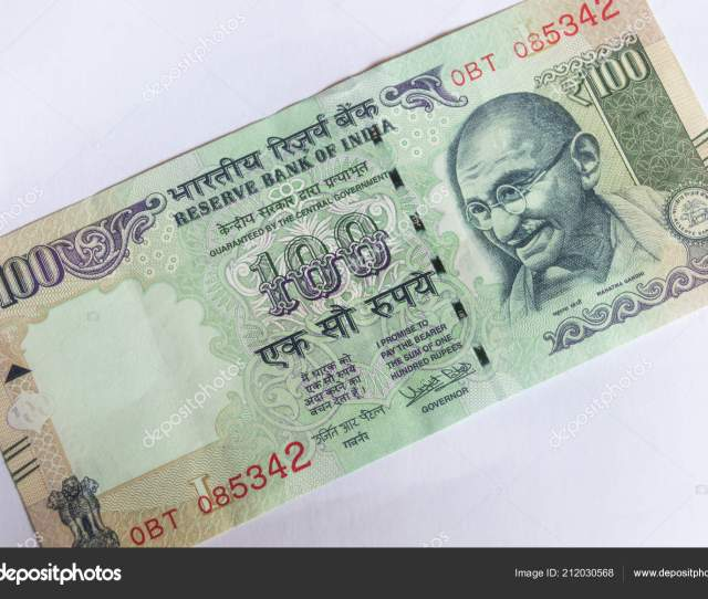 Srinagar Jammu Kashmir India Dated August 2018 Indian Currency 100 Stock Photo