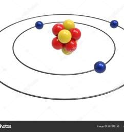 bohr model beryllium atom proton neutron electron science chemical concept stock photo [ 1600 x 1167 Pixel ]