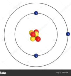 lithium atom bohr model proton neutron electron illustration stock photo [ 1600 x 1167 Pixel ]