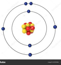 nitrogen atom bohr model proton neutron electron illustration stock photo [ 1600 x 1167 Pixel ]