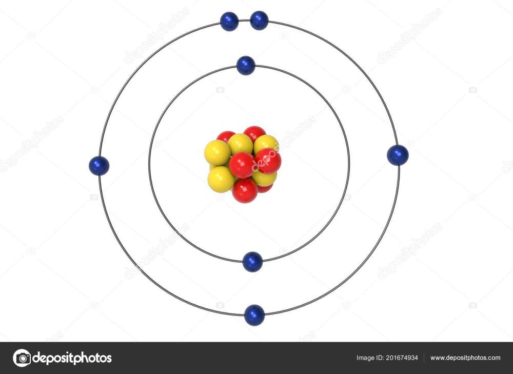 medium resolution of nitrogen atom bohr model proton neutron electron illustration stock photo