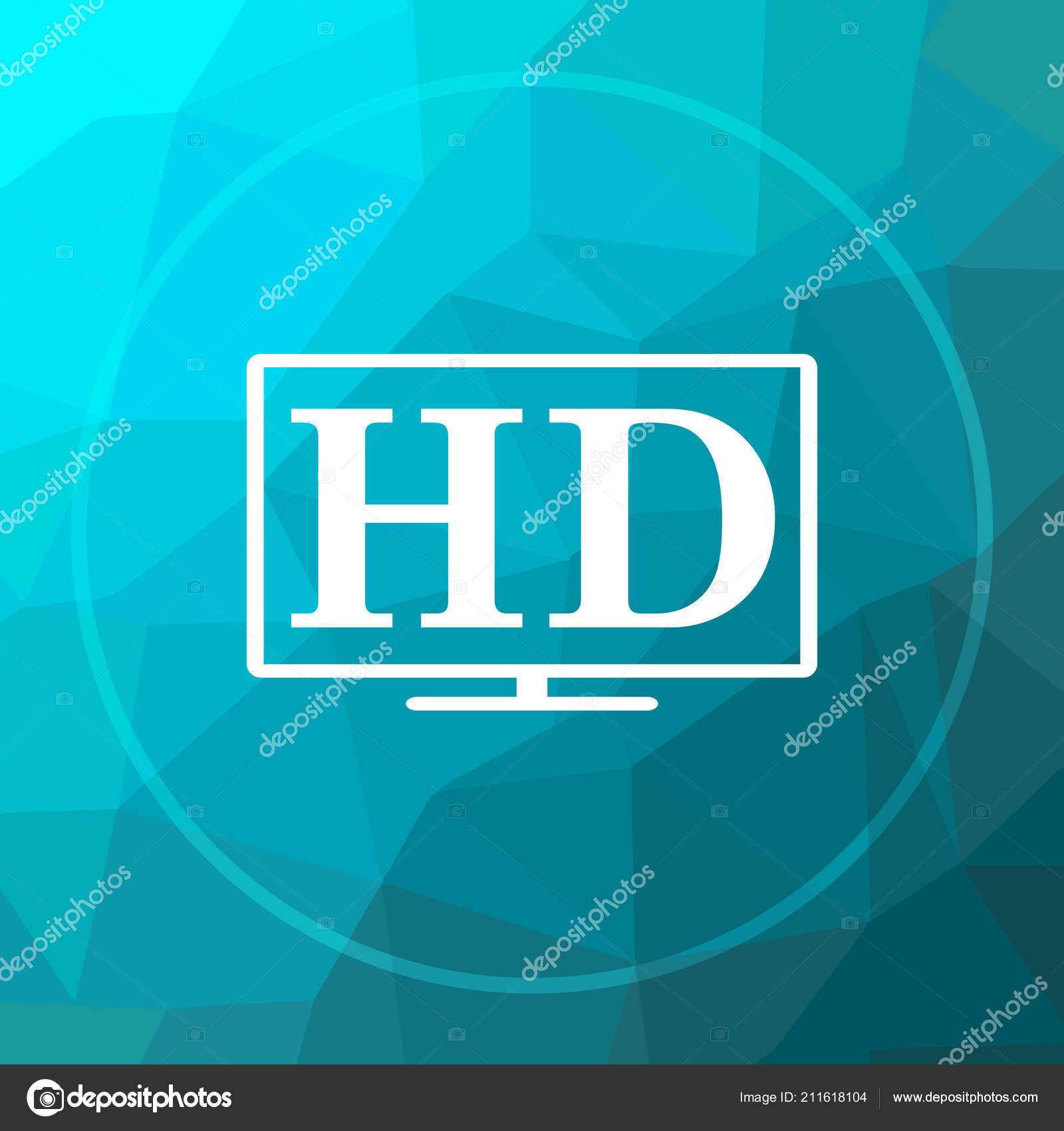 icon website button blue