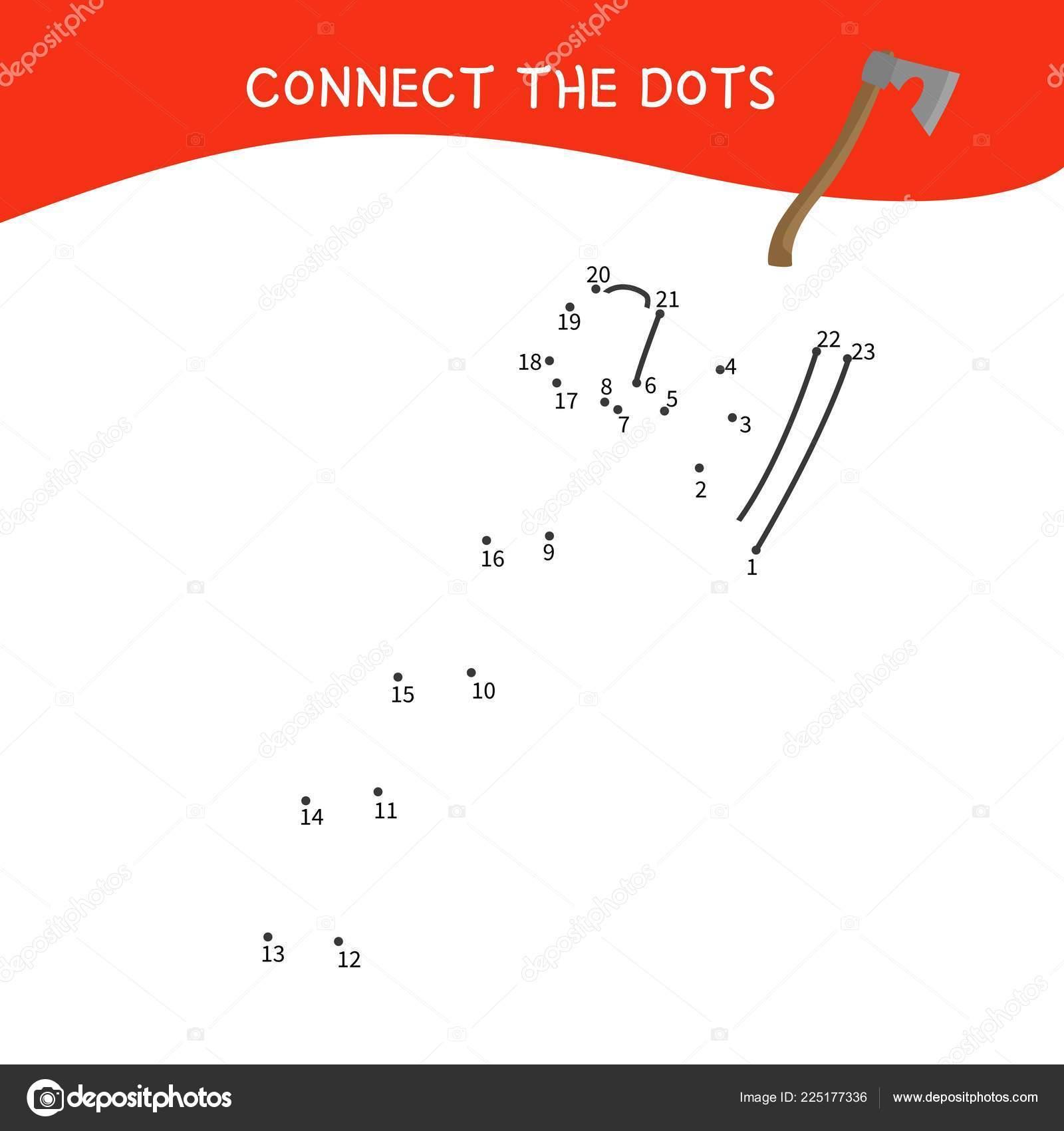 hight resolution of educational game kids dot dot game children cartoon tools stock vector