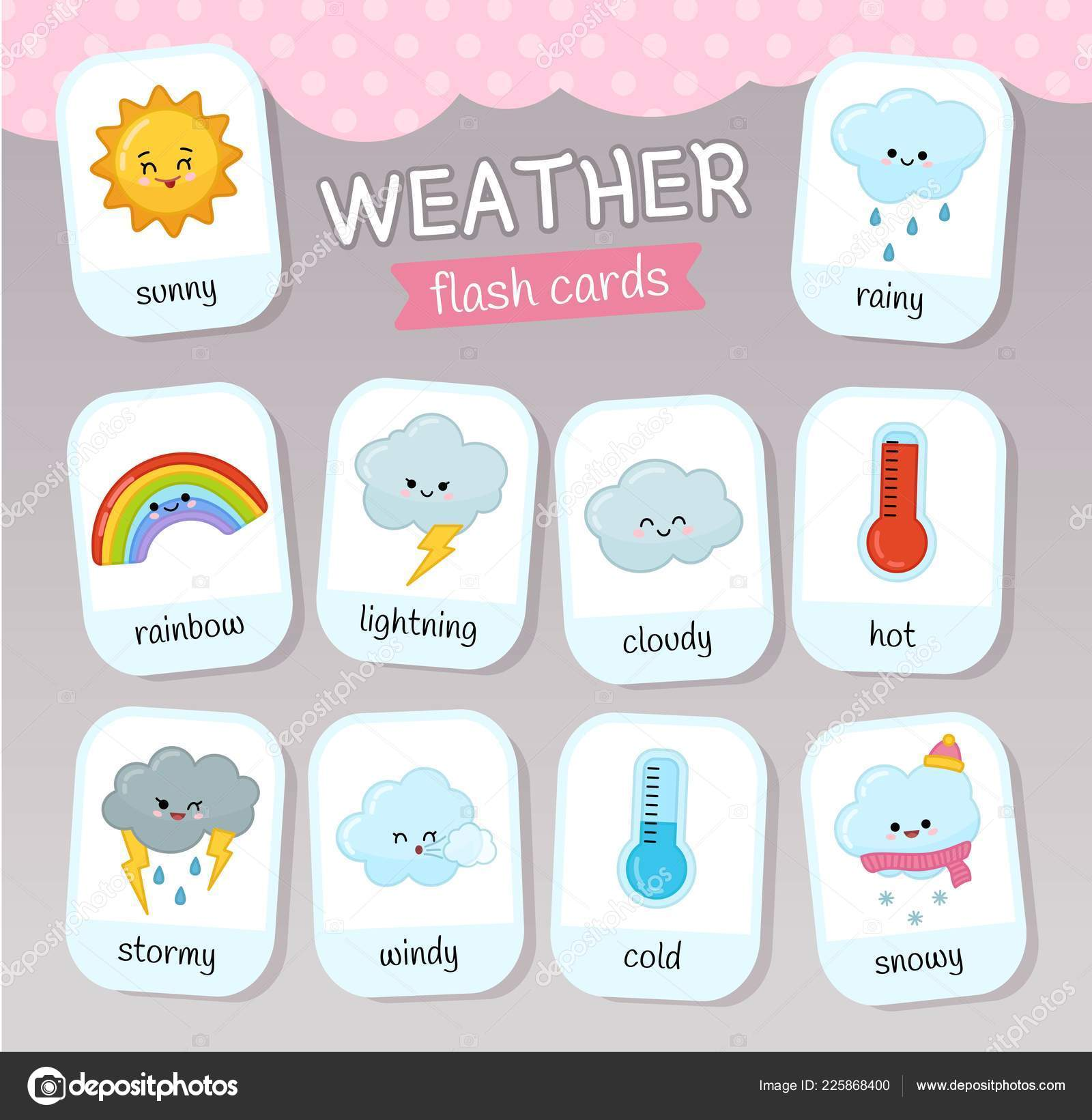 Educational Game Children Learning Weather Toddlers Kids