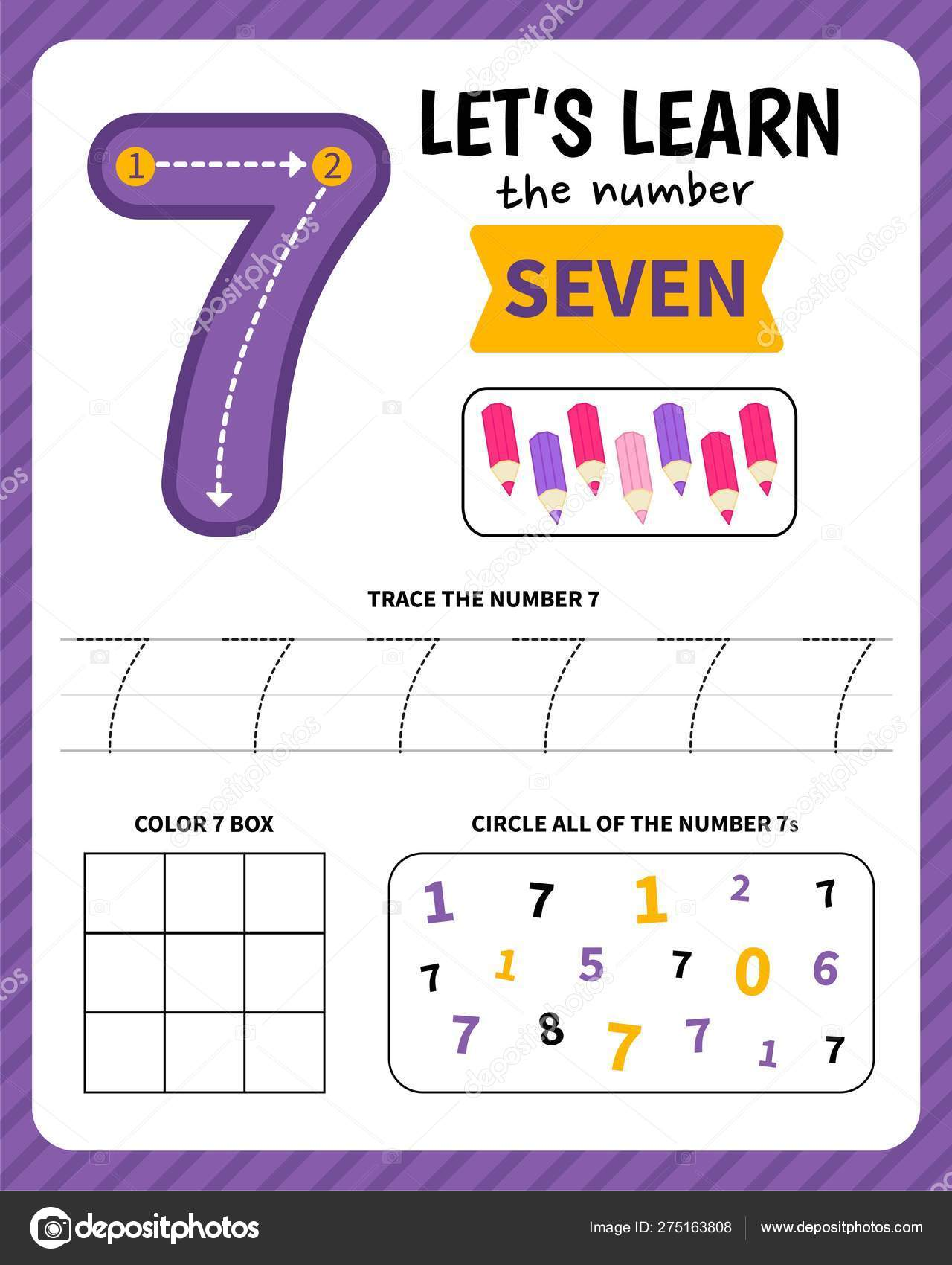 Kids Learning Material Worksheet Learning Numbers Number