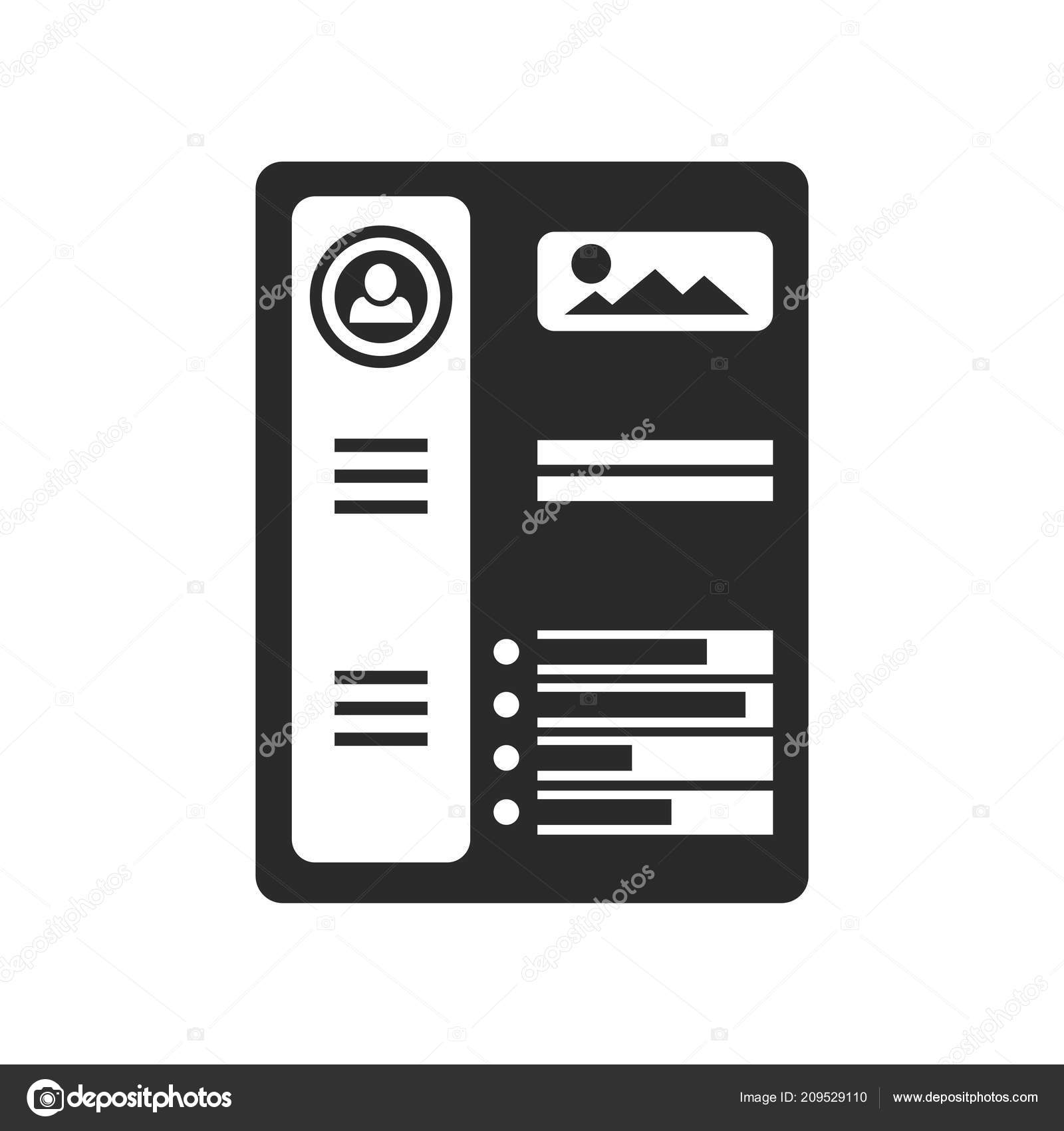 Resume Icon Vector Isolated On White Background For Your Web And Mobile App  Design, Resume Logo Concept — Vector By Eljanstock