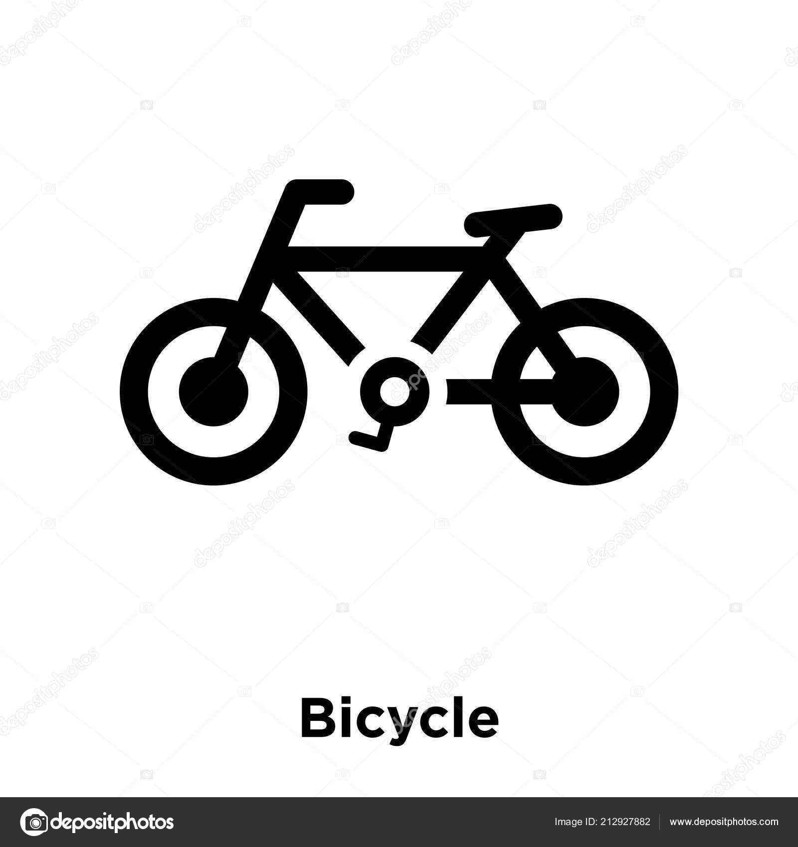 bicycle icon vector isolated