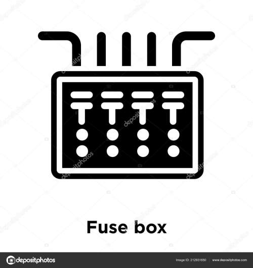 small resolution of fuse box icon wiring diagram mega fuse box icon vector isolated white background logo concept fuse