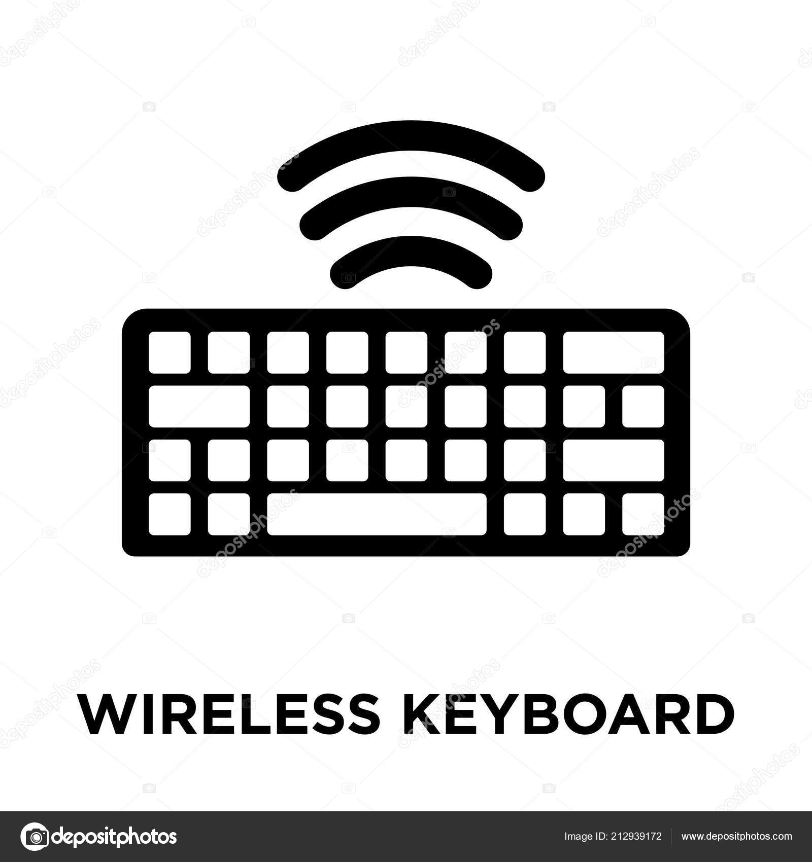Wireless Keyboard Icon Vector Isolated White Background