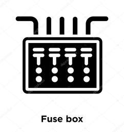 icono caja fusible vectores aislados sobre fondo blanco concepto logotipo vector de stock topvectorstock 212931650 [ 1024 x 1024 Pixel ]