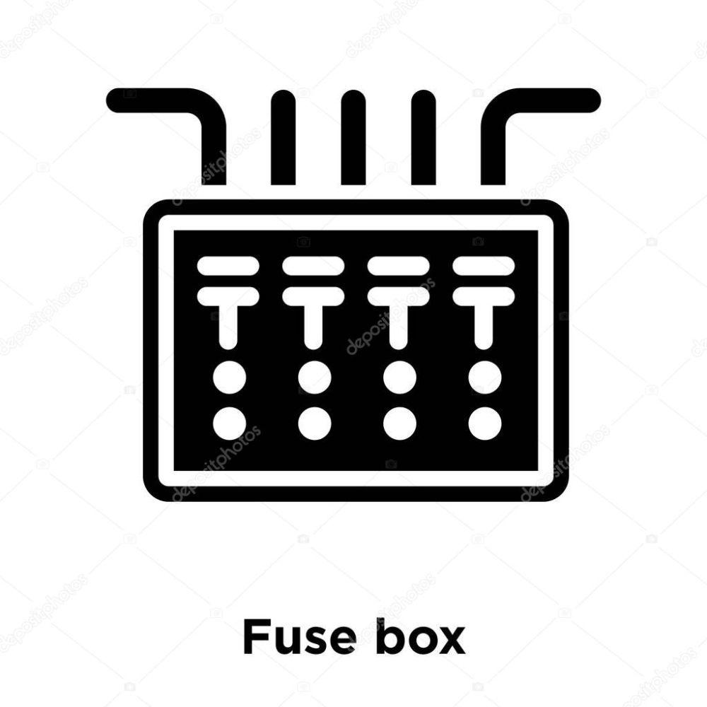 medium resolution of icono caja fusible vectores aislados sobre fondo blanco concepto logotipo vector de stock topvectorstock 212931650