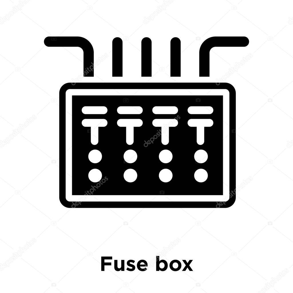 hight resolution of icono caja fusible vectores aislados sobre fondo blanco concepto logotipo vector de stock topvectorstock 212931650