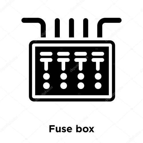 small resolution of icono caja fusible vectores aislados sobre fondo blanco concepto logotipo vector de stock topvectorstock 212931650