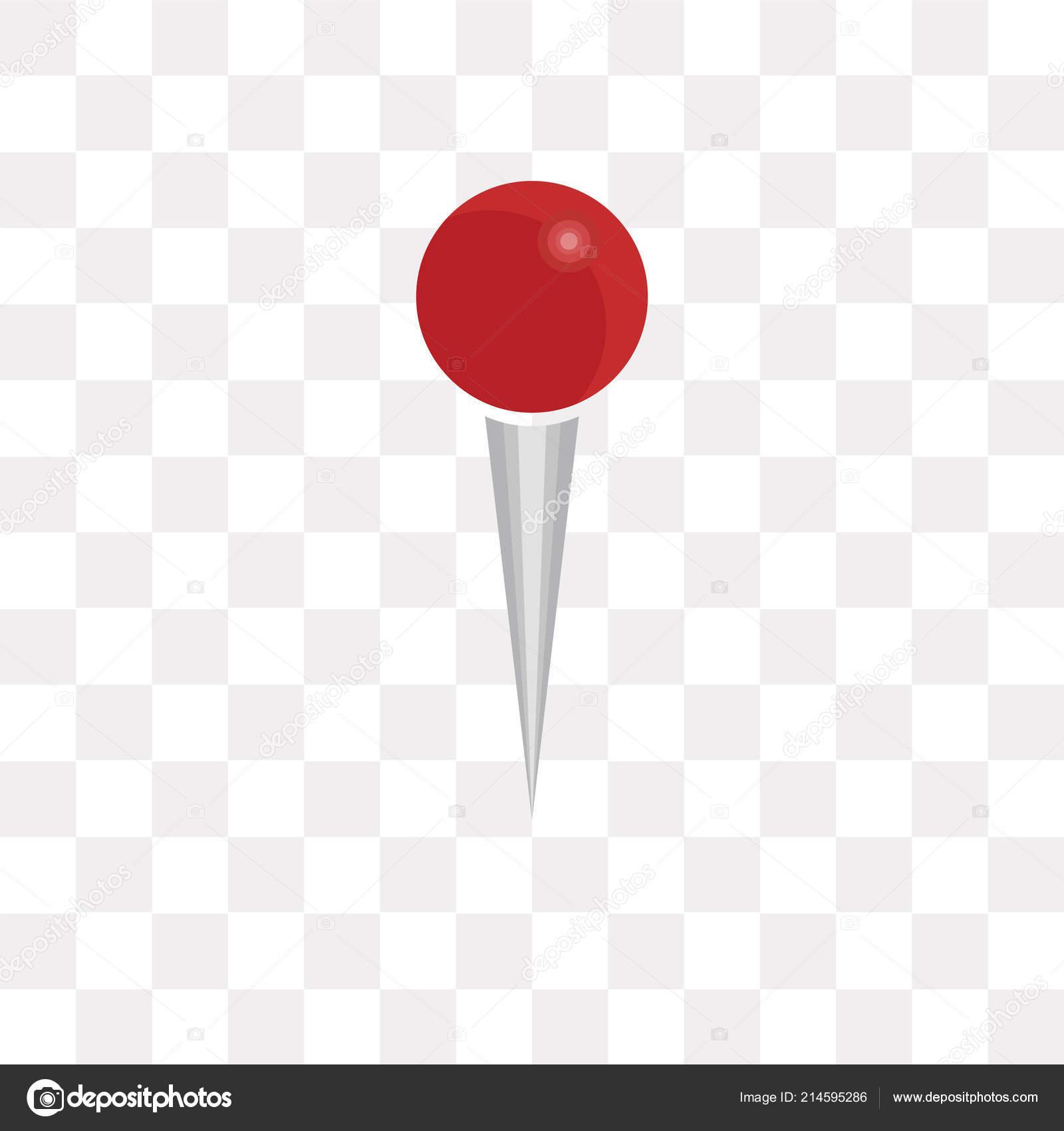 Icone Vecteur Pin Isole Sur Fond Transparent Concept Logo