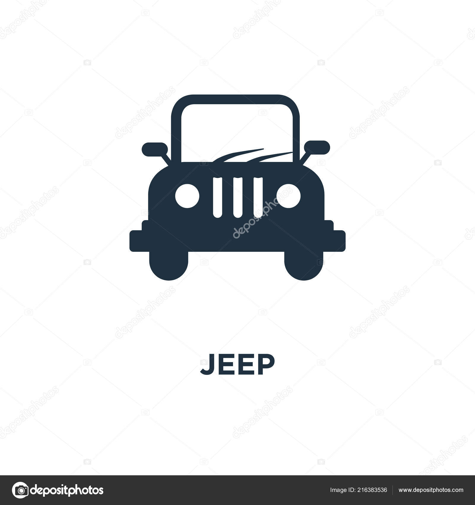 jeep icon black filled