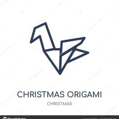 Christmas Origami Diagram 12 Volt Wiring For 8n Ford Tractor Icon Linear Symbol Design Collection Stock Vector