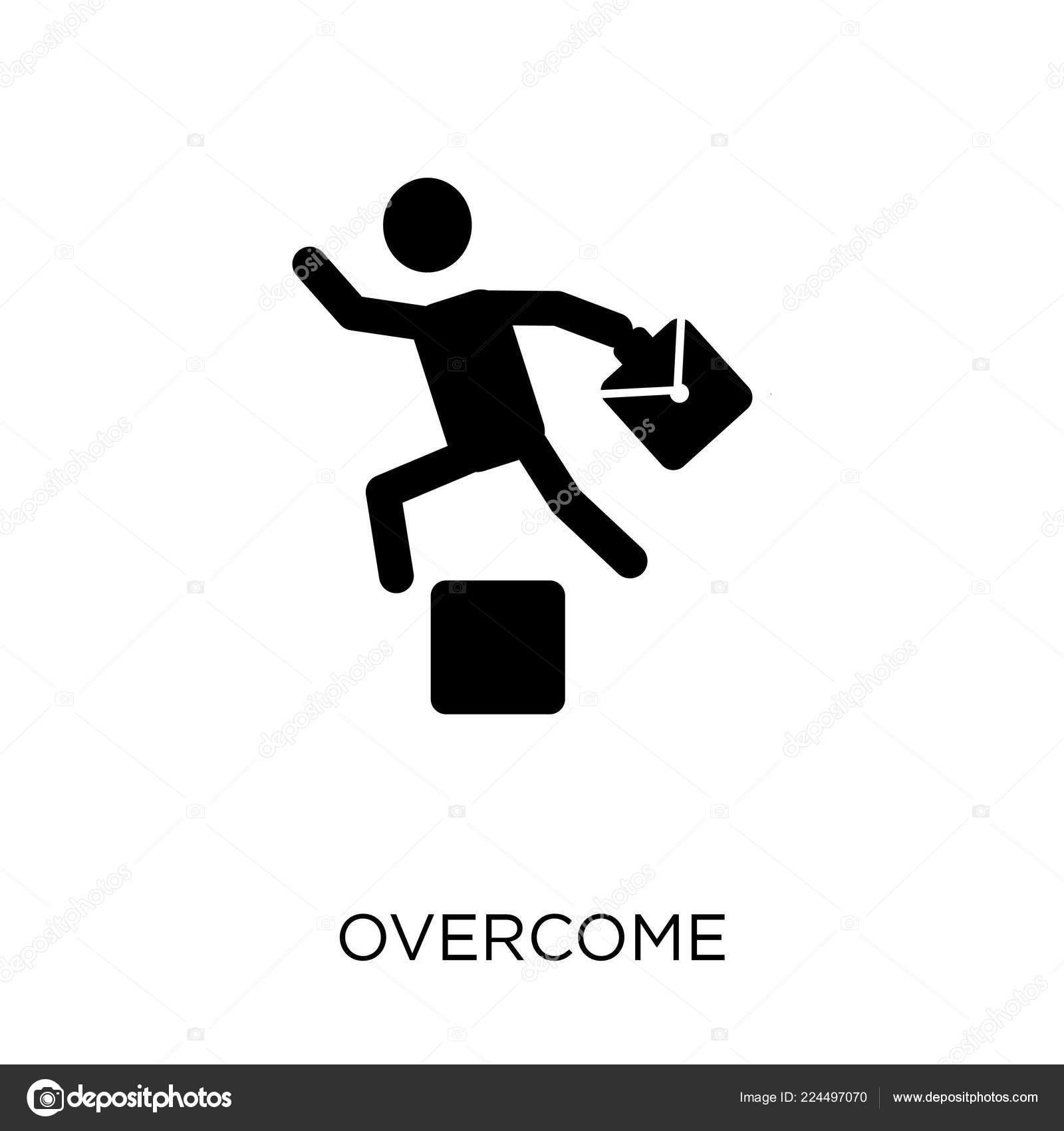 Overcome Icon Overcome Symbol Design Startup Collection
