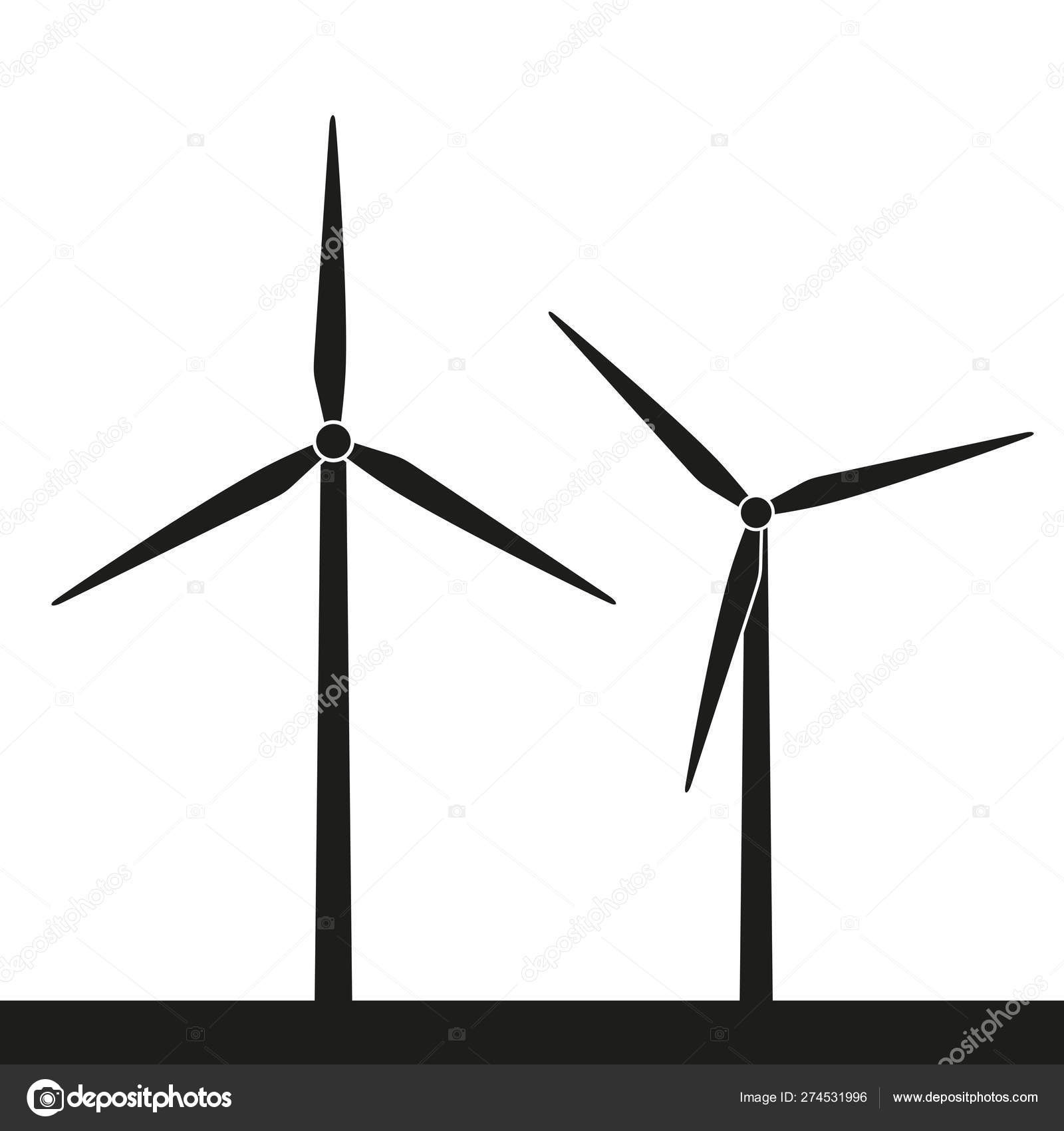 hight resolution of windmill silhouette icon wind power energy stock vector