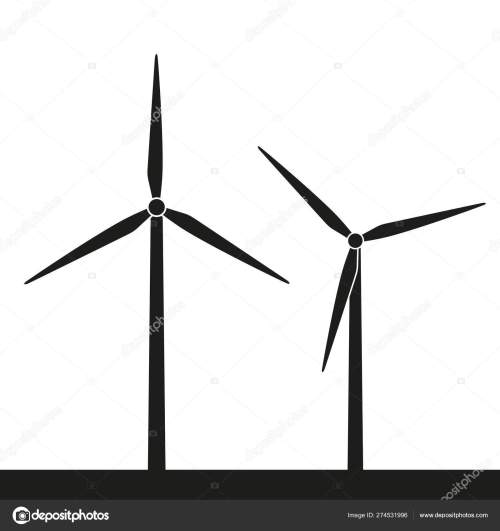 small resolution of windmill silhouette icon wind power energy stock vector