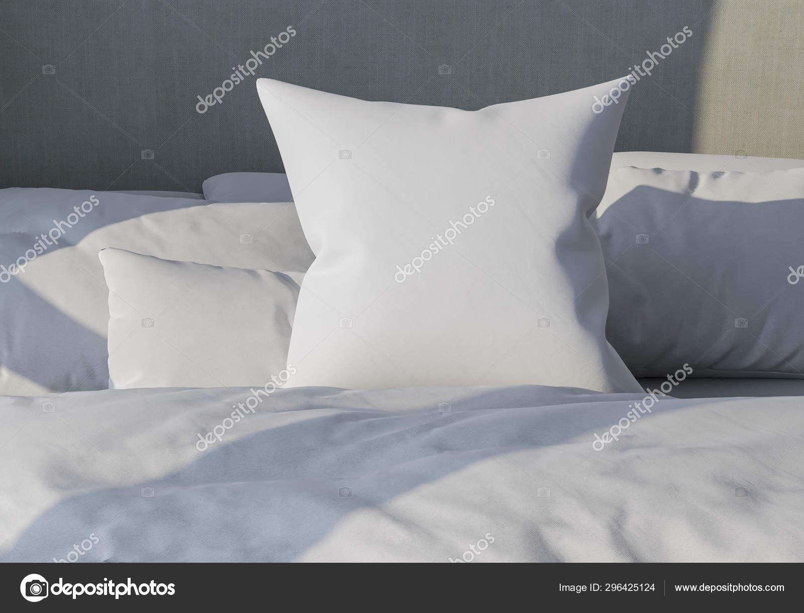 https depositphotos com 296425124 stock photo white pillow on the background html