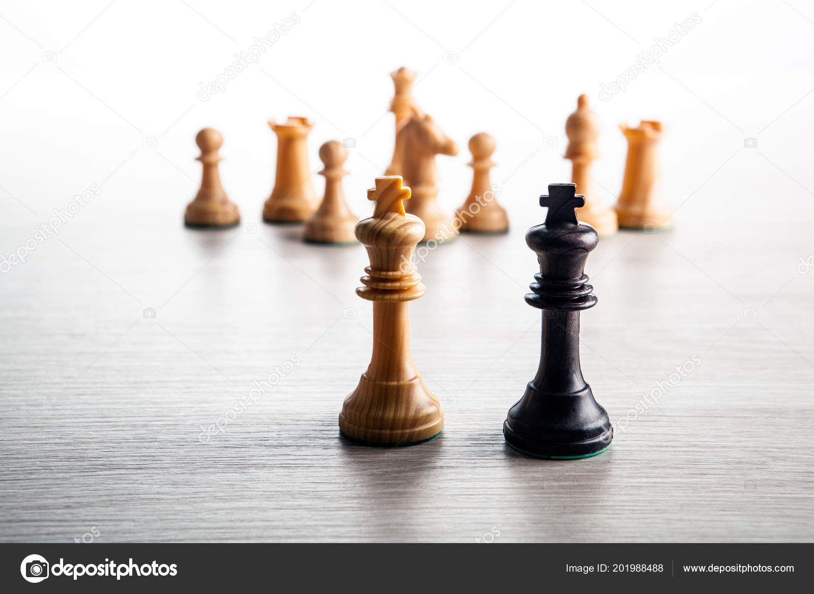 chess pieces grey background