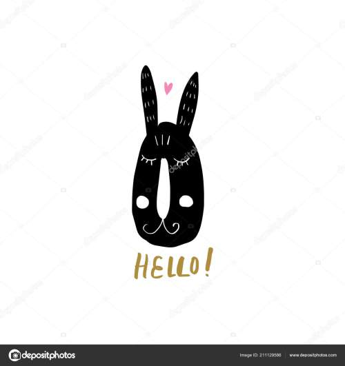 small resolution of nursery poster postcard bunny lettering vector clipart stock vector