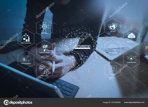 small resolution of futuristic industry business virtual diagram robot assistant cloud big data stock photo