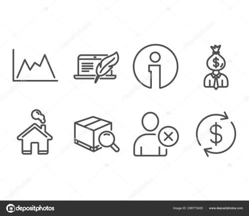 small resolution of set copyright laptop delete user diagram icons manager search package stock vector