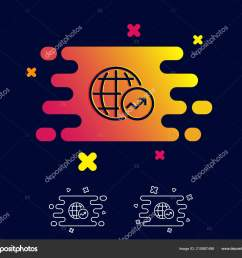 world statistics line icon report chart sales growth sign data stock vector [ 1600 x 1394 Pixel ]