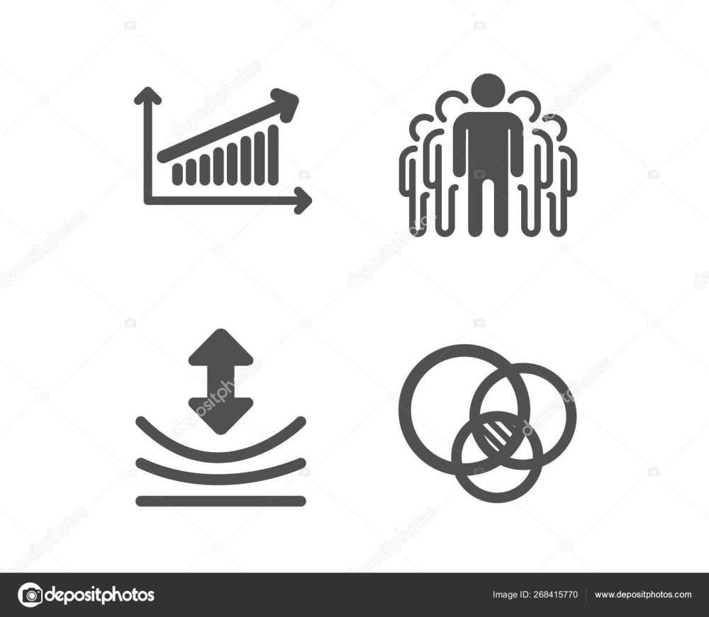 medium resolution of set of resilience chart and group icons euler diagram sign elastic presentation chart managers classic design resilience icon flat design