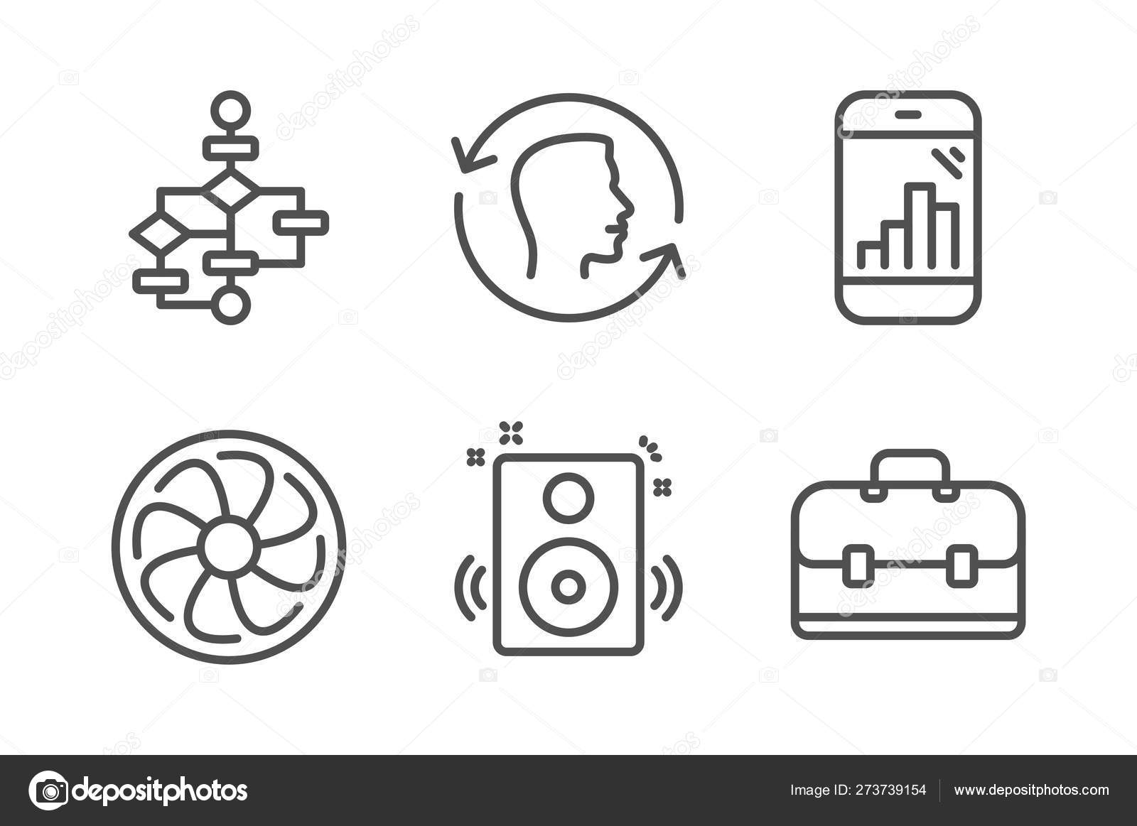 hight resolution of speakers face id and block diagram icons set fan engine graph simple engine block diagram