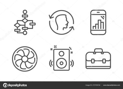 small resolution of speakers face id and block diagram icons set fan engine graph simple engine block diagram