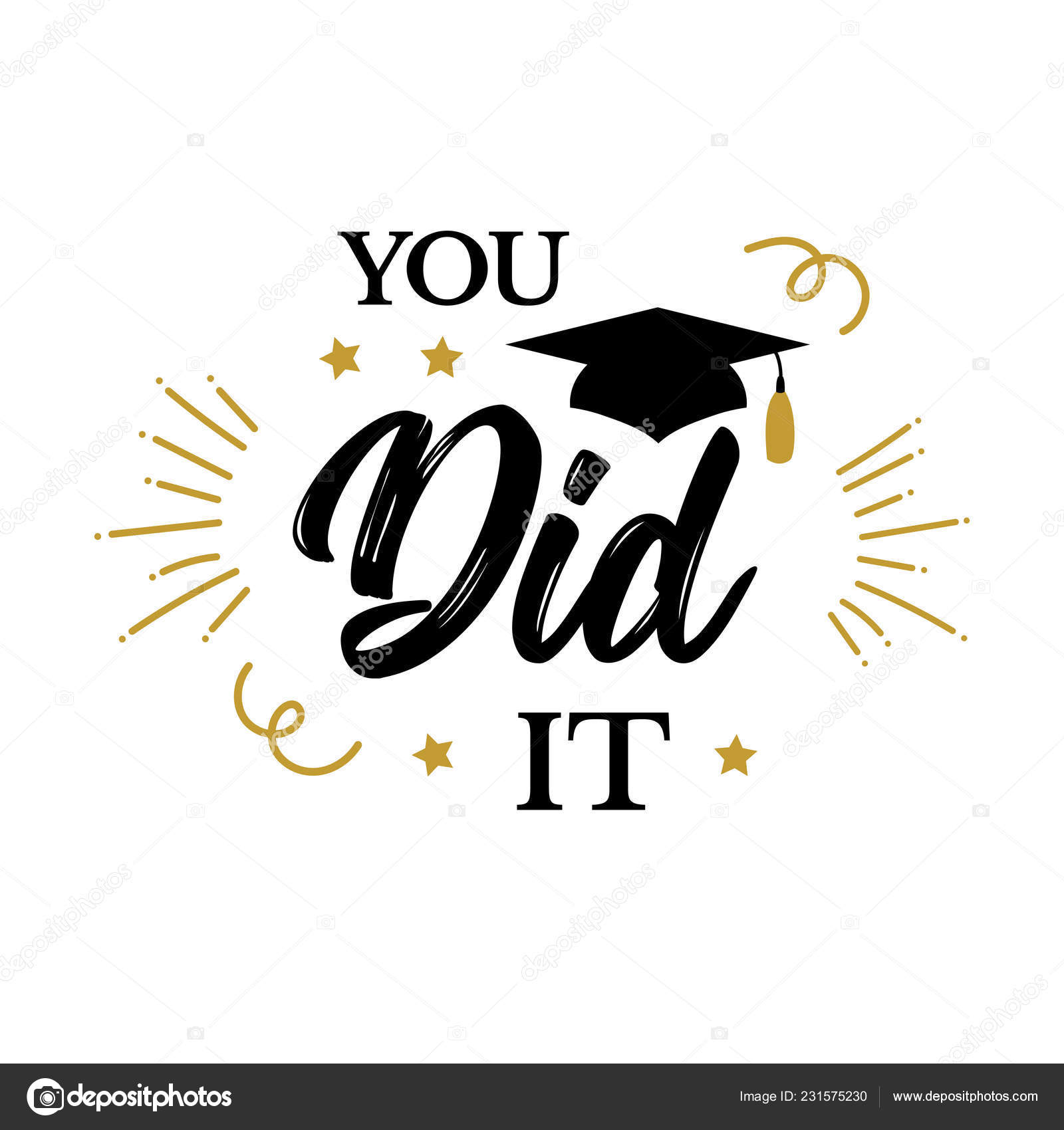You did it Congrats Graduates class of 2019 party — Stock