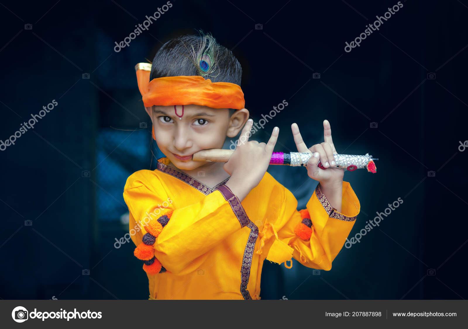 portrait little lord krishna