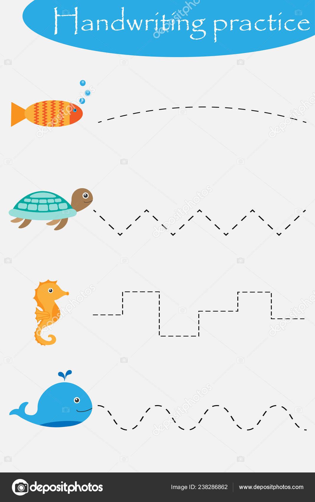 Ozean Und Meer Tiere Rad Fisch Schildkrote Seepferdchen